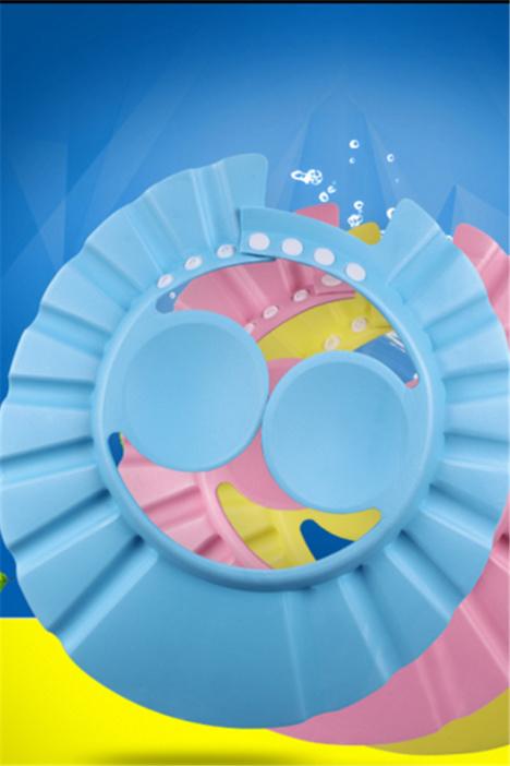 宝宝洗发帽小孩防水帽护耳洗头帽婴儿儿童浴帽洗澡帽可调节加大厚