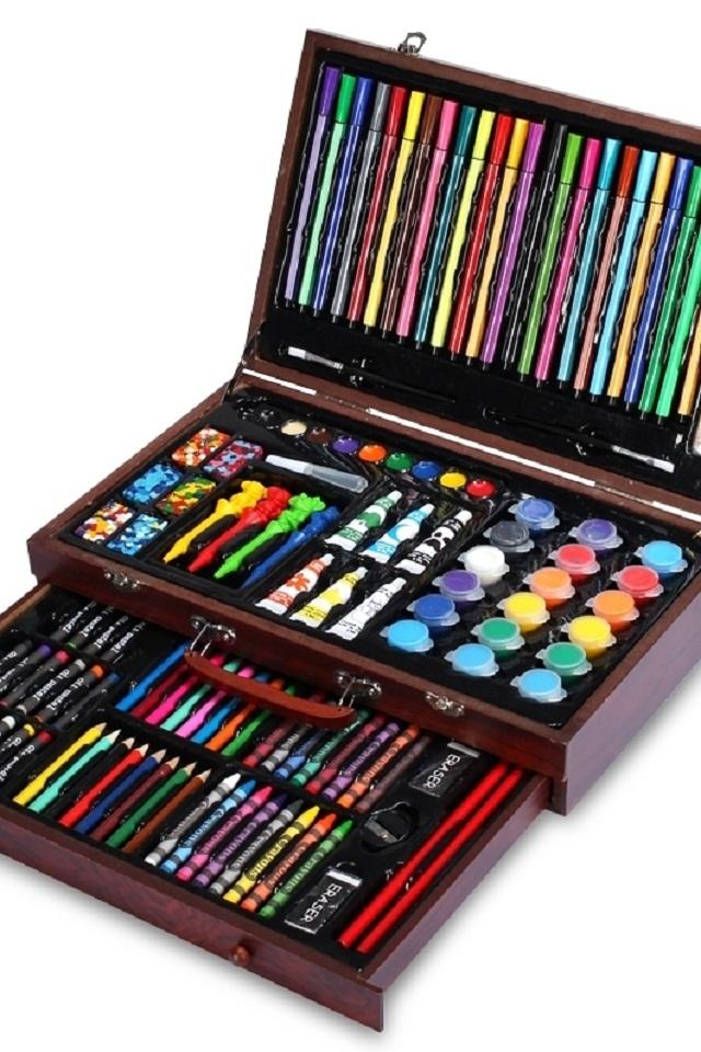 儿童节绘画套装学习用品画笔画画工具小学生水彩笔蜡笔美术文具礼盒送