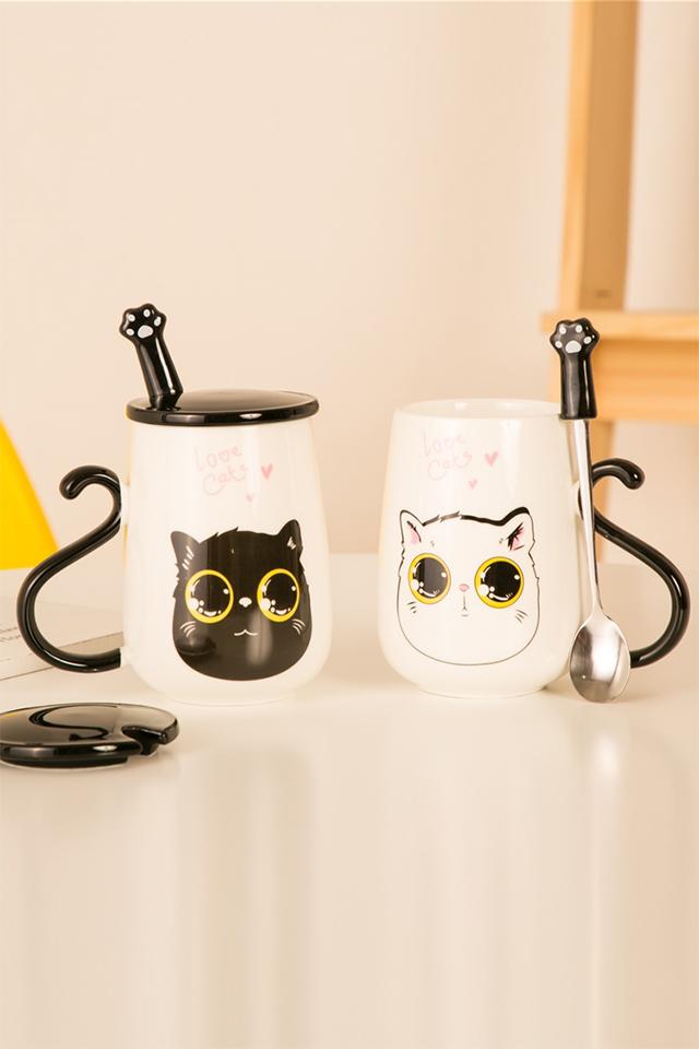 杯子图案设计小猫