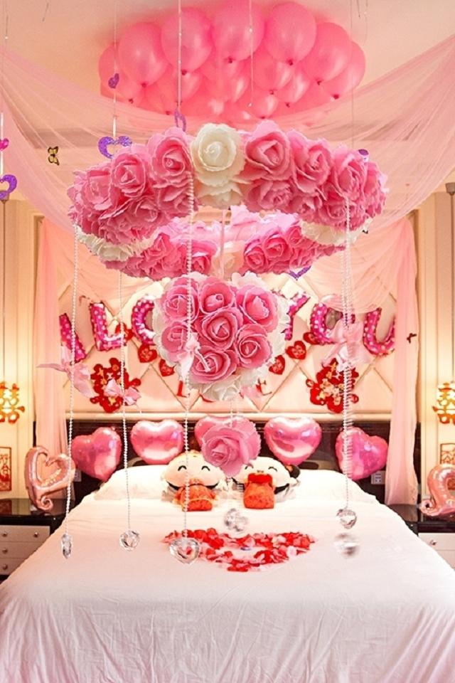 创意婚房布置用品结婚装饰花球浪漫婚礼用品拉花婚庆套餐卧室新房图片
