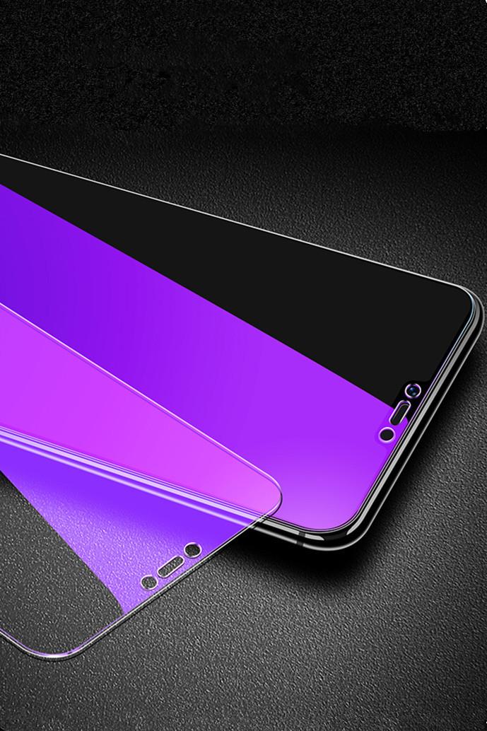 全透明紫光护眼钢化玻璃手机膜oppo华为小米钢化膜vivo苹果全屏保护膜