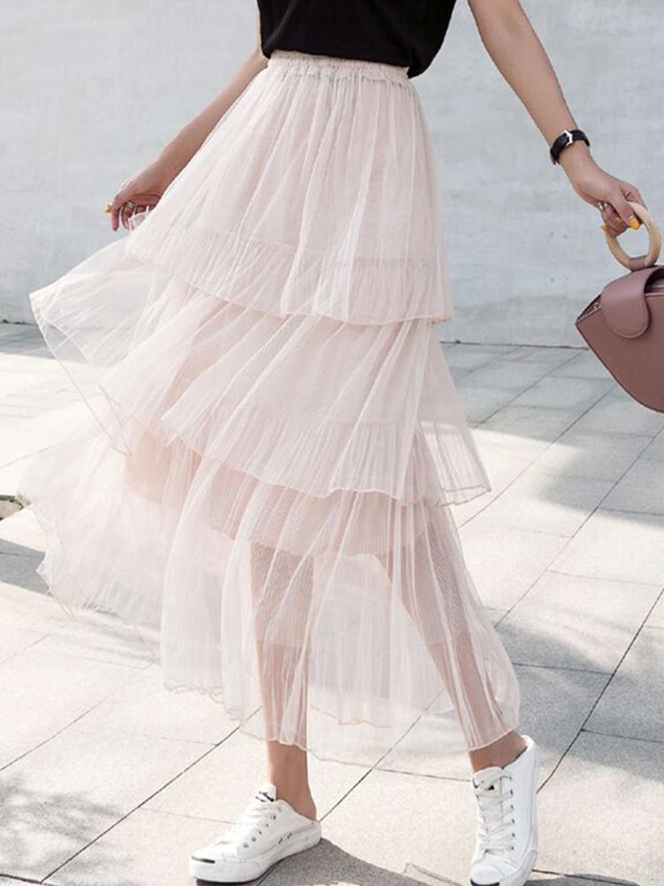 纱裙半身裙春