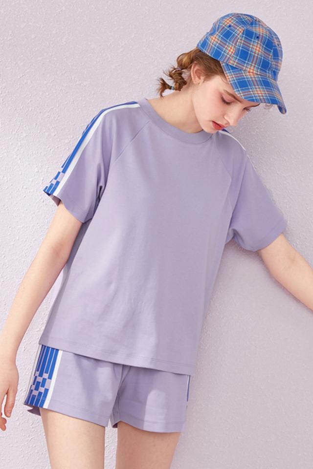 森马套装女2019夏季新款两件套短袖t恤休闲短裤运动bf风学生潮流图片