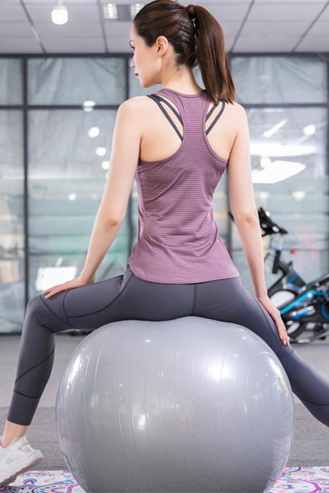 春夏新款运动套装女时尚背心显瘦吸汗速干衣女晨跑步健身服女韩版专业
