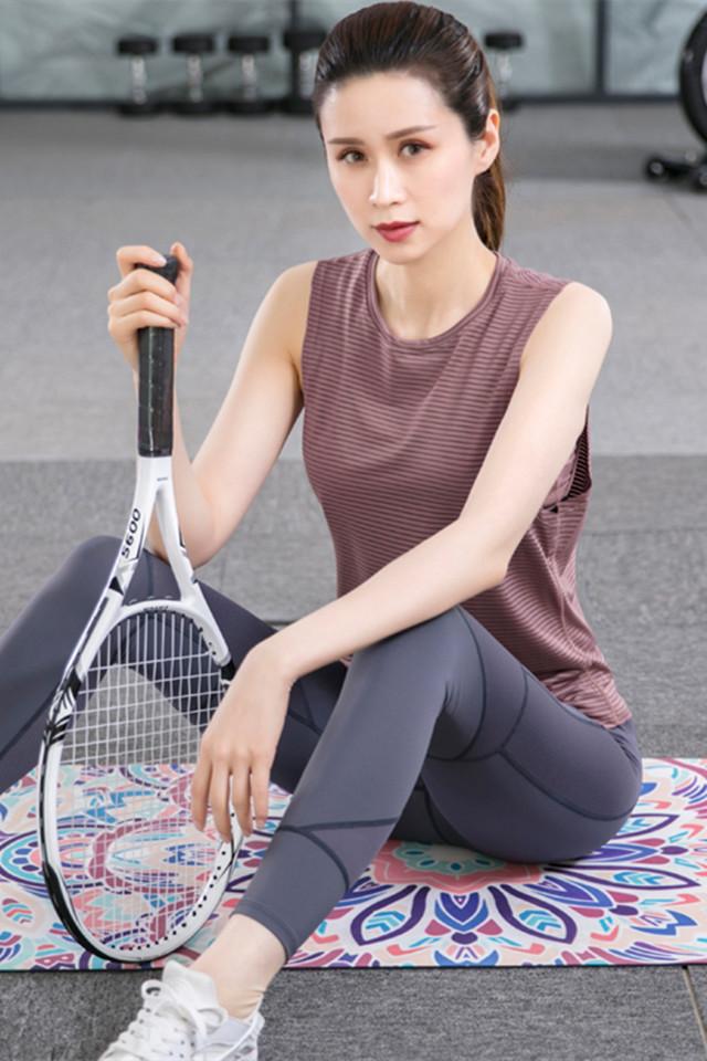 春夏新款运动套装女时尚背心显瘦速干服晨跑步健身服女韩版网红户外吸