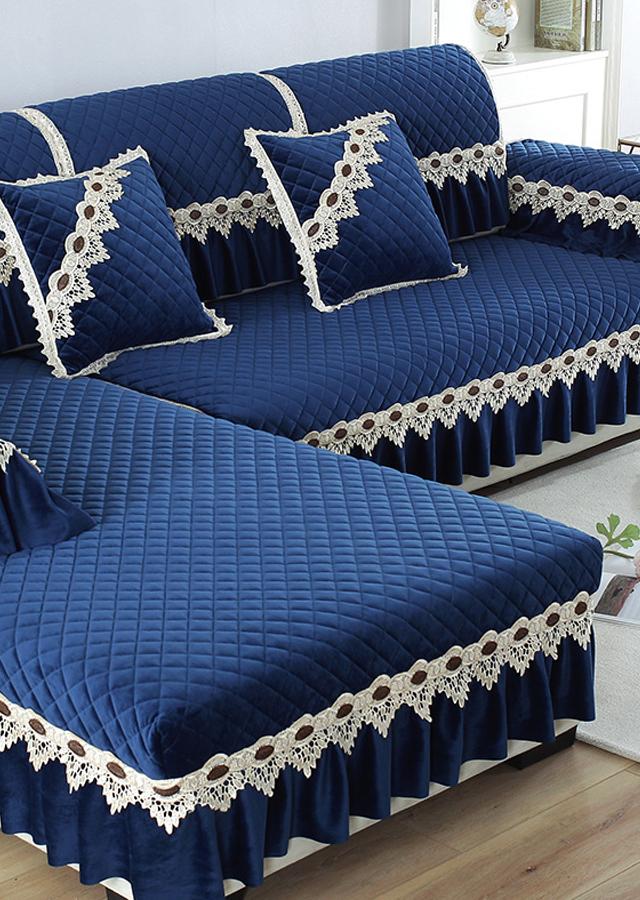 加厚防滑沙發墊布藝防滑四季通用沙發坐墊子全包沙發套沙發套罩巾圖片