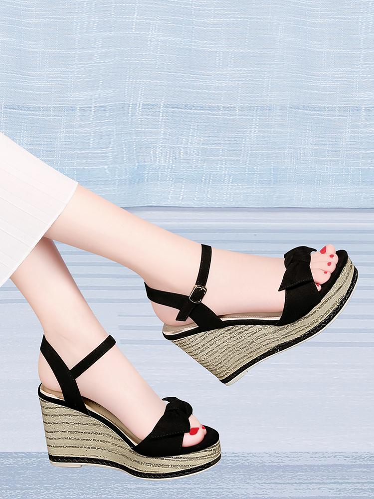 坡跟高跟鞋凉鞋