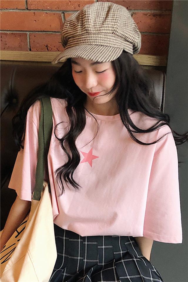 夏季新款韩版宽松丧系上衣服网红同款t恤学生百搭短袖女ins潮