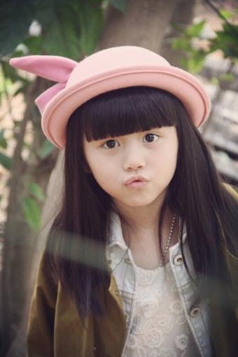 张可爱儿童卡通粉兔子小圆帽