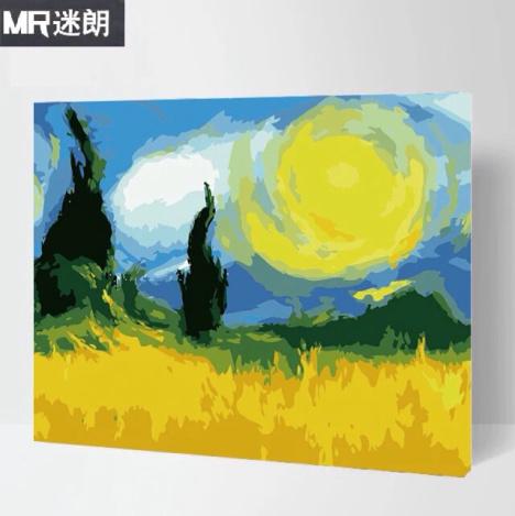 数字油画 世界名画风景 40*50