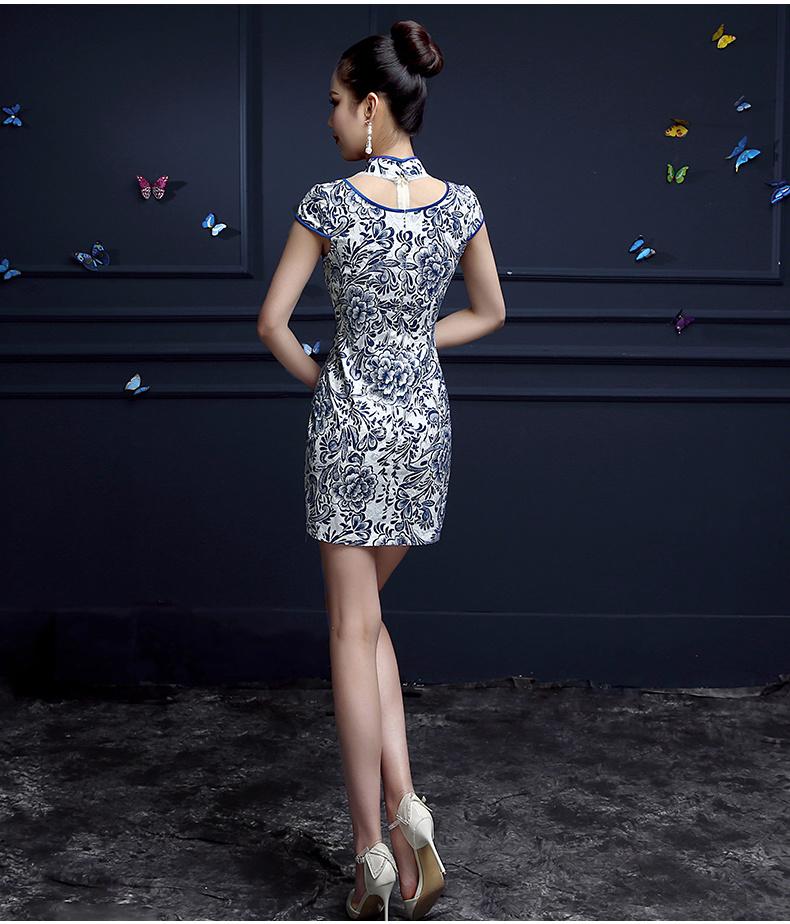 青花瓷旗袍裙