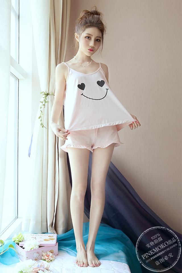 【夏季爆款韩版可爱笑脸家居服套装】-内衣-女士内衣