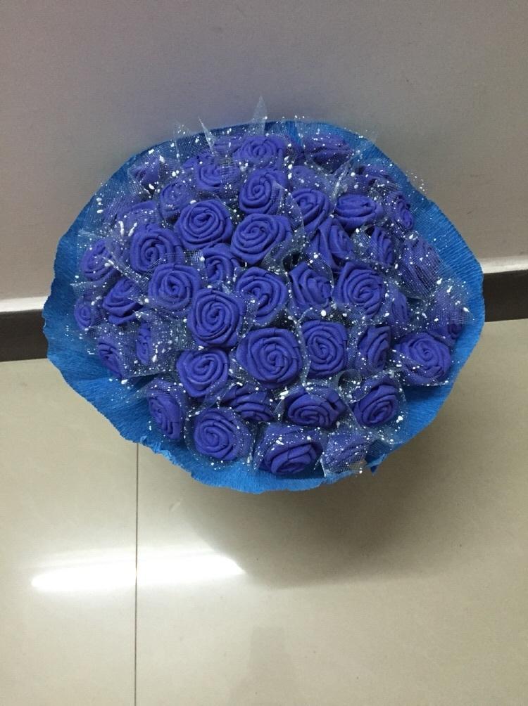 手工制作海绵纸玫瑰花,不喜勿喷
