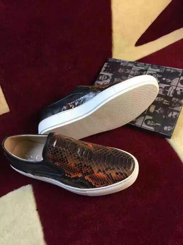 gucci 蛇纹套脚运动鞋 潮时尚杂志新款 采用压印蛇纹牛皮 真皮内里 38