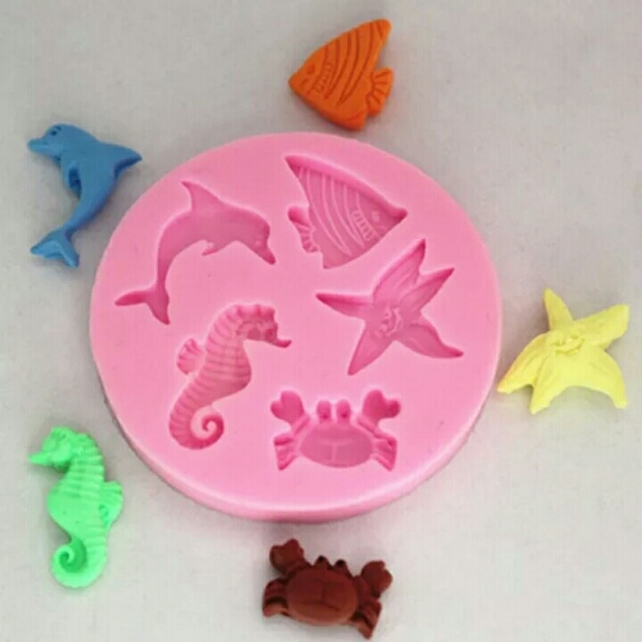 海洋动物硅胶模具.巧克力diy