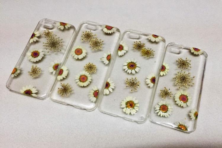 花草标本手工制作手机壳