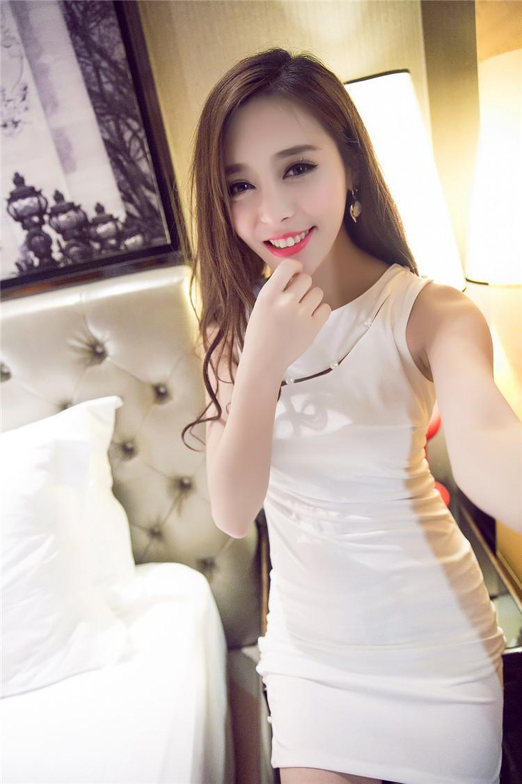 【性感显身材修身纯色旗袍无袖紧身包臀短裙】-衣服