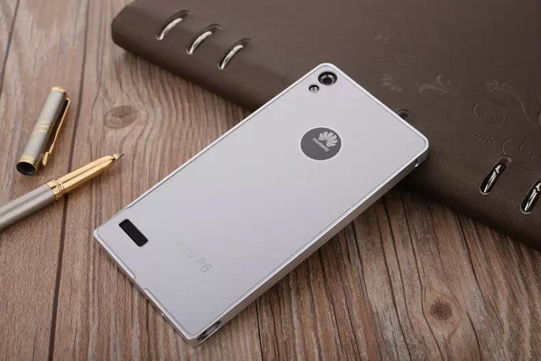 华为p6手机套p6s保护套金属边框超薄后盖电信通用男女潮硬壳