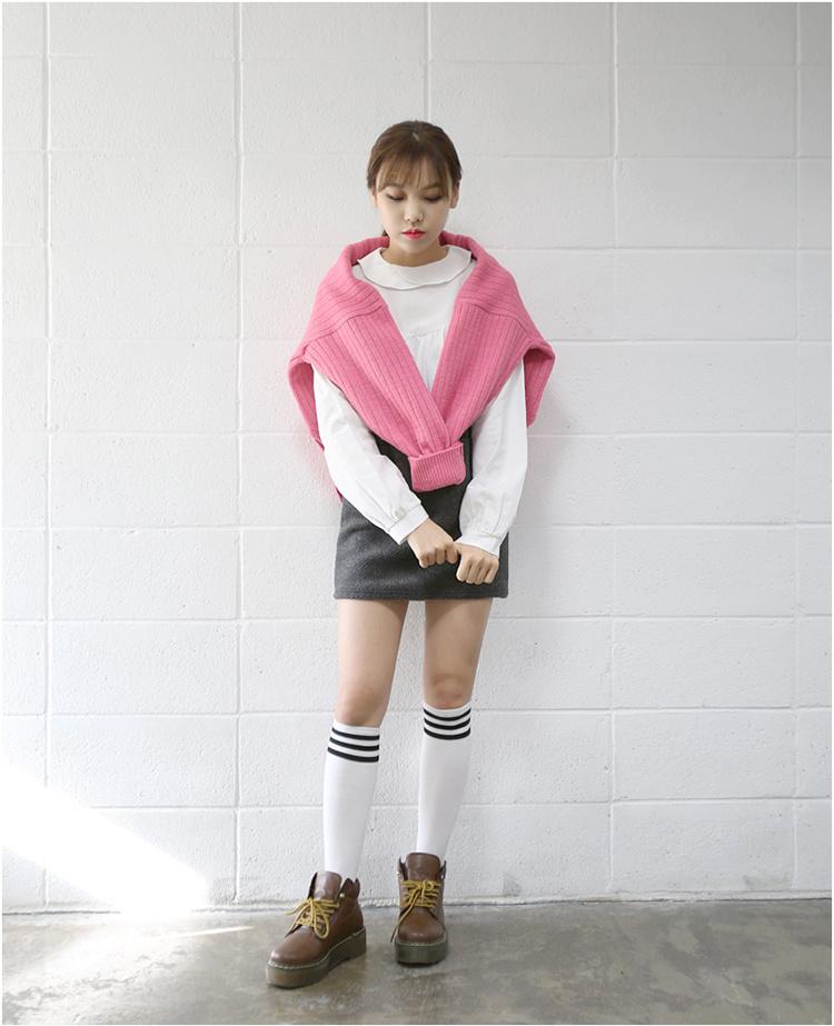 【可爱娃娃领纯白衬衫】-衣服-衬衫_上装_女装_服饰鞋