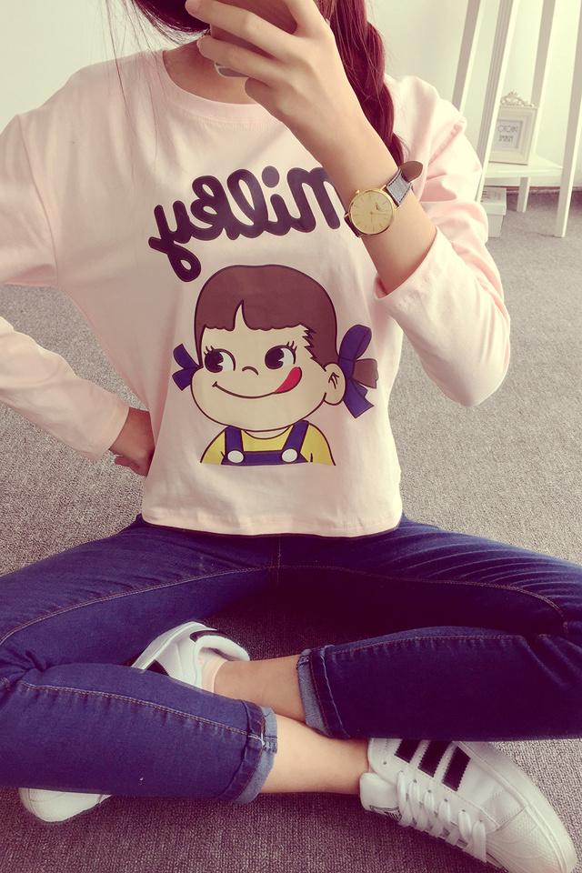 【甜美可爱娃娃秋季打底t恤】-衣服-t恤_上装_女装_鞋