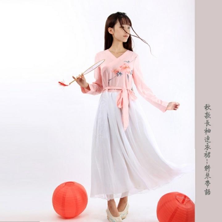 【原创手绘中国风改良汉服连衣裙】-衣服-连衣裙_裙子