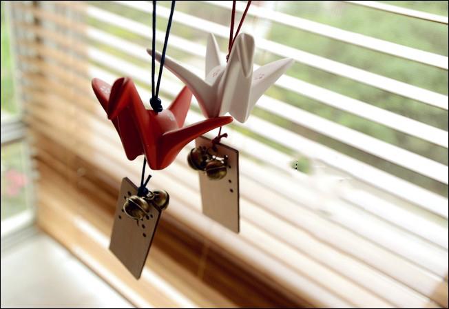 【心仪家纺】日本和风千纸鹤许愿牌挂饰