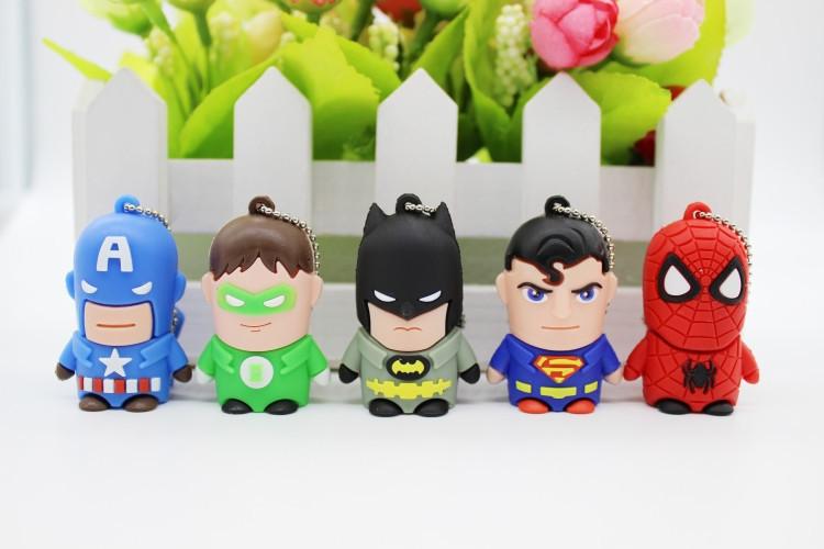 蝙蝠侠卡通人u盘16gu盘个性迷你可爱创意u盘