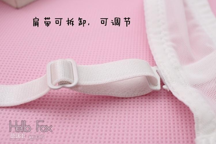 清纯甜心 日系白色蕾丝荷叶边三排扣薄款少女聚拢内衣文胸套装