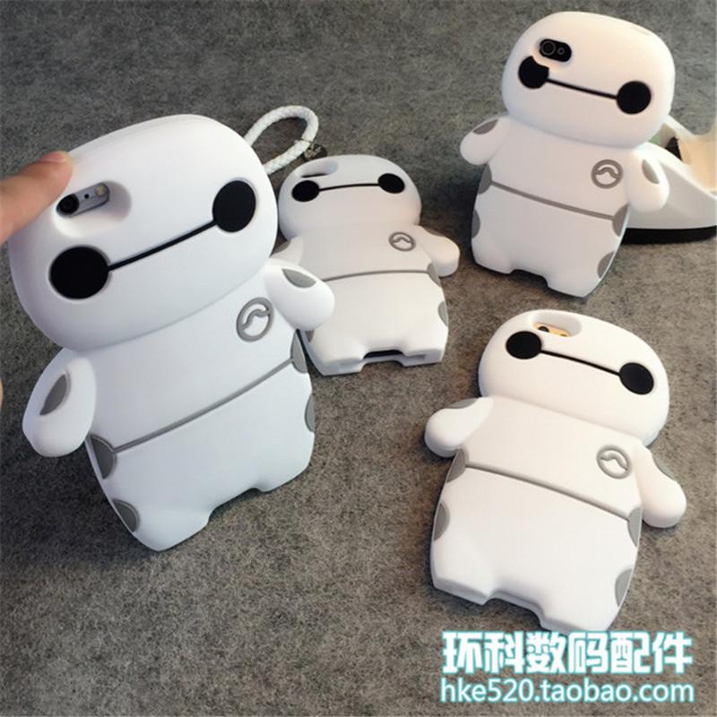 小清新可爱大白iphone6保护套 4/4s/5/5s多型号