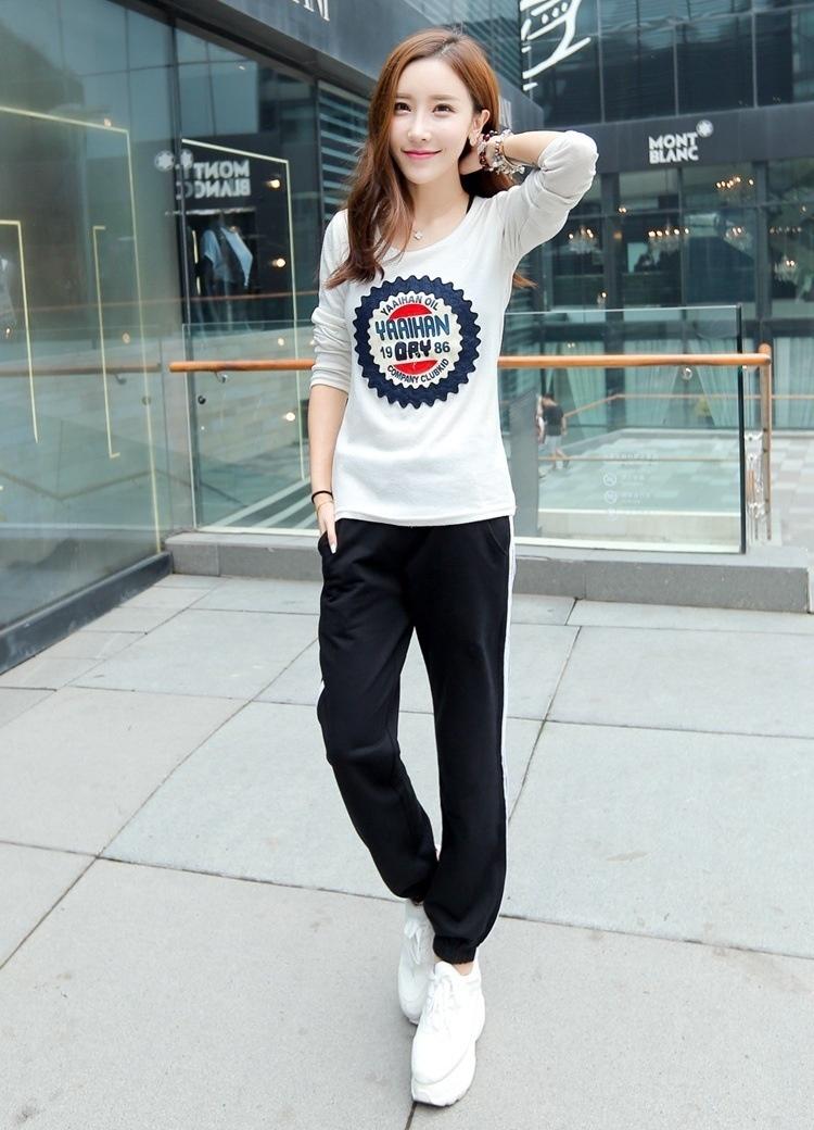 秋装韩版薄款三条杠运动裤