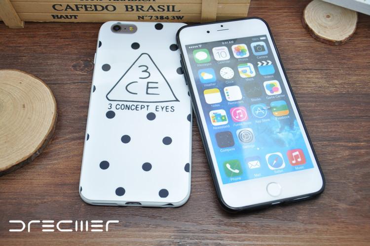 iphone6/6plus波点3ce内衣5/5s手机壳瘦身t恤苹果图片