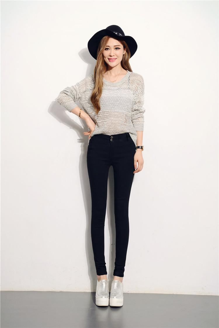 显瘦女小脚裤