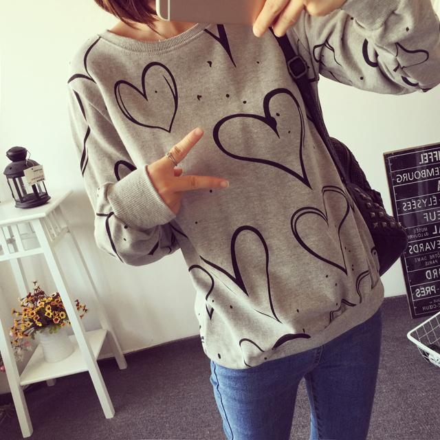 【简笔画爱心卫衣】-衣服-卫衣/绒衫