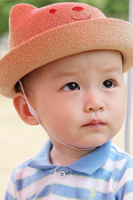 【宝宝可爱小草帽 小孩孩子盆帽】-配饰-女士配饰
