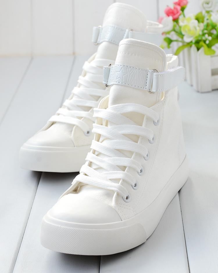 白帆布鞋怎么洗_2015白色净面高帮帆布鞋