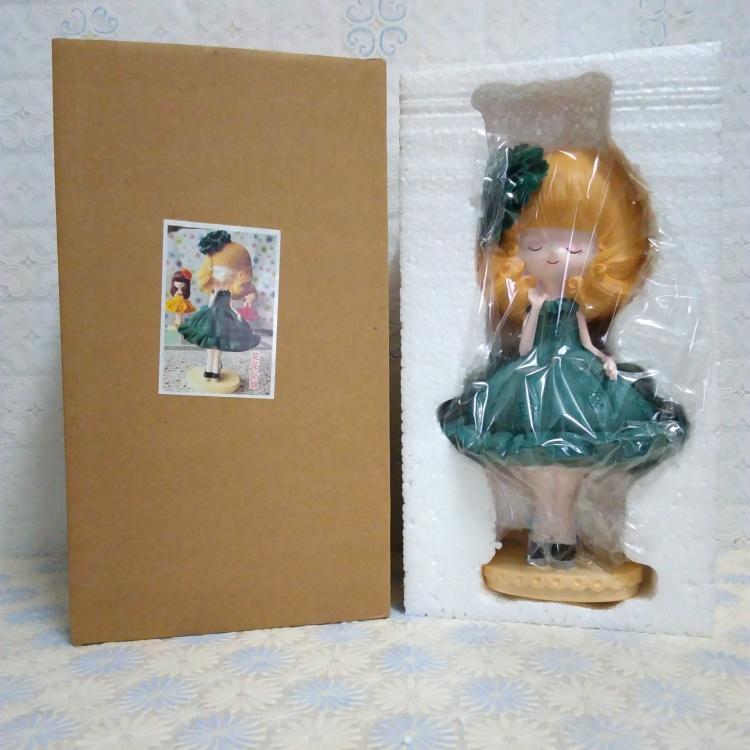 【新款花花姑娘树脂娃娃现代中式可爱浪漫清新漂亮