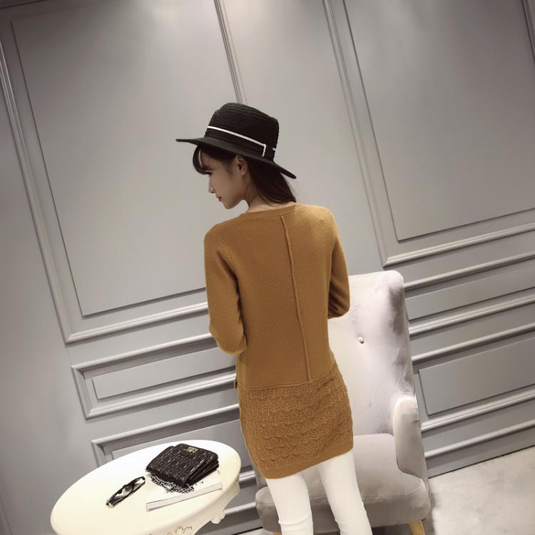 【新款花边下摆毛衣】-衣服-服饰鞋包
