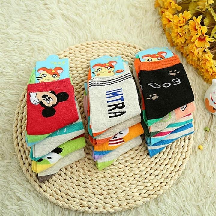 【纯棉秋冬季小孩袜婴儿棉袜子可爱卡通袜子包邮
