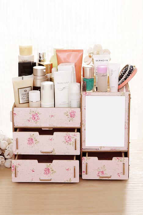 欧式,梳妆台,化妆品收纳盒