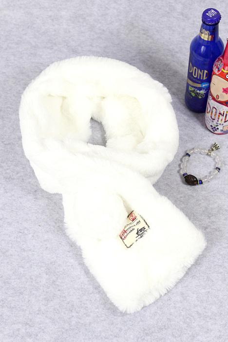 围巾,围脖,兔毛围巾,可爱,清纯,百搭,休闲,学生围巾,纯色,白色,球球