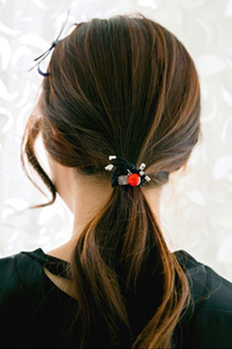 【韩国手工编织糖果色小圆球手链皮筋发绳发圈头饰发