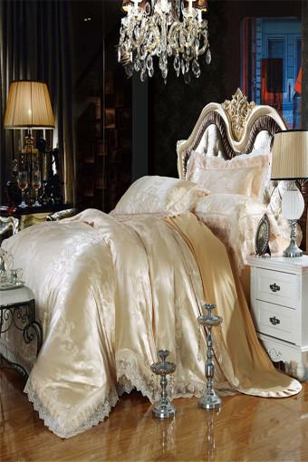 欧式贡缎提花四件套床上用品纯棉床单被套包邮
