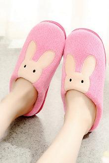 Dép lê bằng bông in hình thỏ con dễ thương