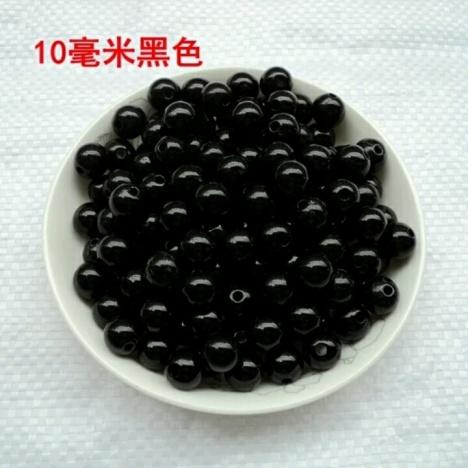 【纸巾盒材料包动物眼睛红色黑色圆珠子10毫米鼻子