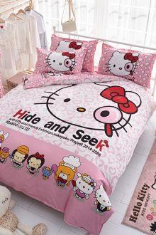 Chăn gối ngủ in họa tiết hoạt hình đáng yêu, bộ bốn chiếc