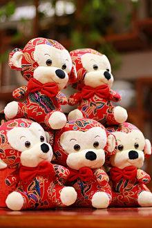 Búp bê vải trang trí hình khỉ con đáng yêu, đem lại may mắn cho năm khỉ