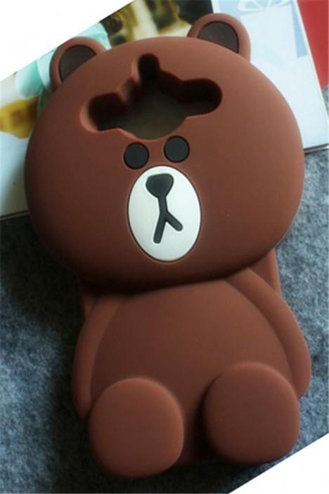 美图4手机壳美图秀秀4/m4可爱布朗熊手机保护套防摔壳
