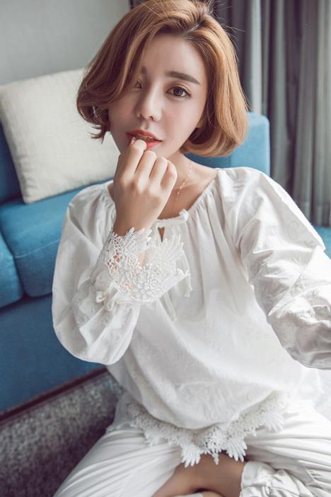 【韩版新品春季长袖女生睡衣套装可爱甜美家居服休闲