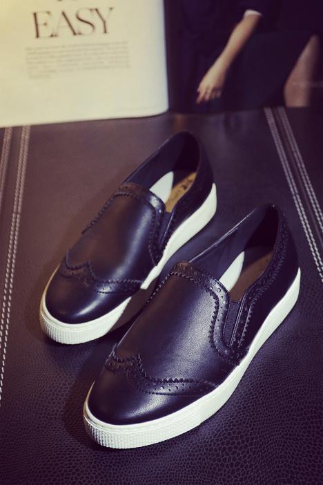 【2016新款松糕底花纹单鞋】-鞋子-单鞋