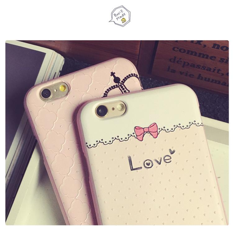 iphone6/6s可爱卡通硅胶套6plus粉色手机保护套